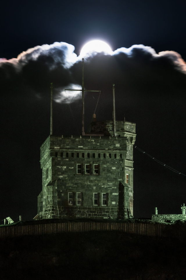 Cabot Tower Moon