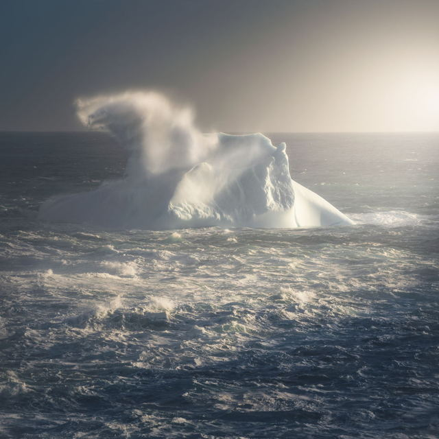 Wave Over Iceberg