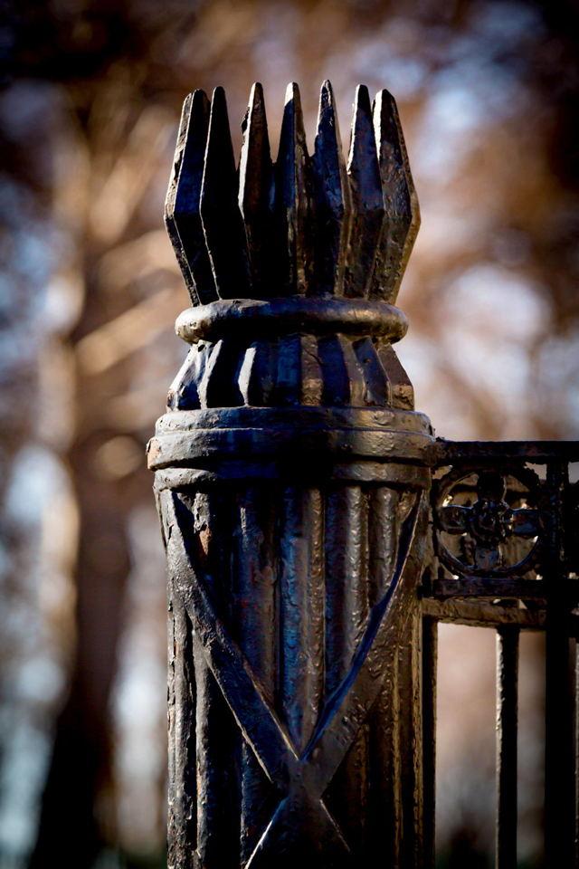 Wrought Iron Fasces Fencepost