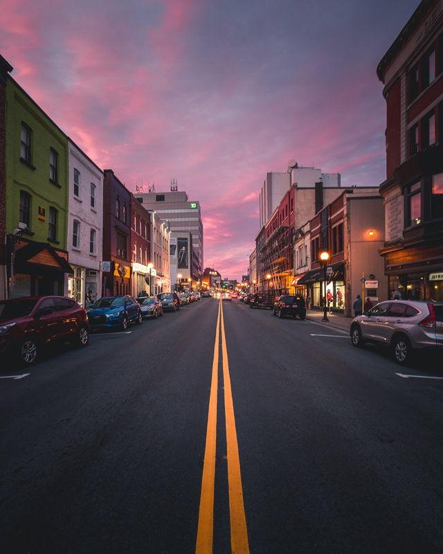 Water Street Sunset