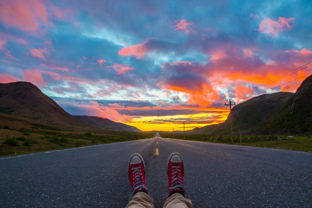 Sitting in the Sunset in the Tablelands