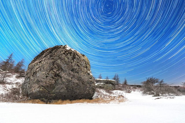 Butterpot Star Trails January 2017
