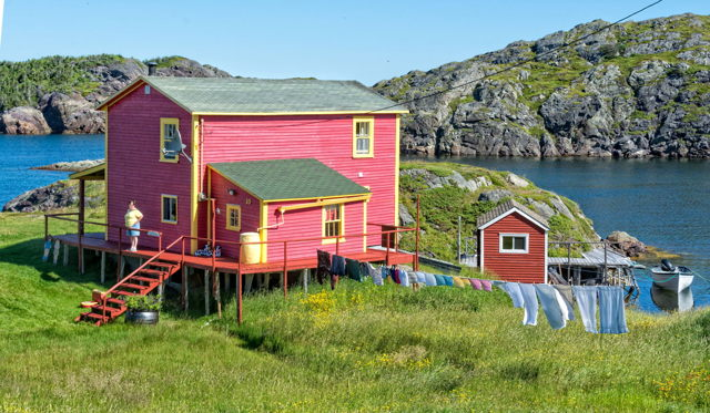 Fine Day on the Clothes, Change Islands, Newfoundland