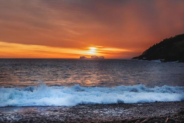 Sunrise and Torbay Iceberg