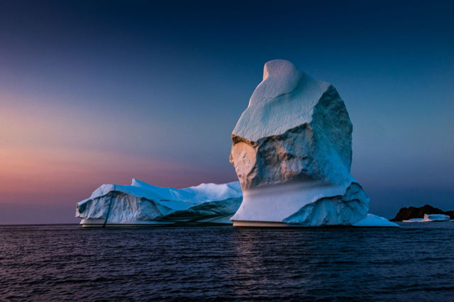 Twillingate Iceberg at Sunset